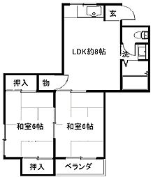メゾン深井[4階]の間取り