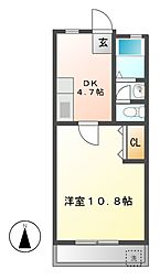 愛知県名古屋市瑞穂区本願寺町2丁目の賃貸マンションの間取り