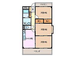 ガーディニアパレス B棟[1階]の間取り