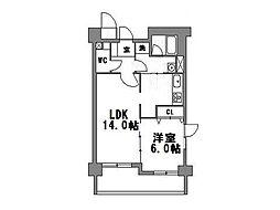 パレスフォー塚本II[3階]の間取り