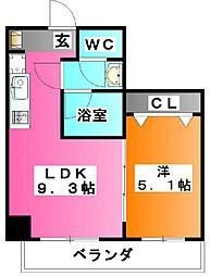 東京都北区神谷1の賃貸マンションの間取り