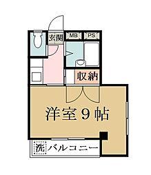 田所マンション[201号室]の間取り