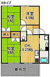 グランソレイユA・B・C棟[1階]の間取り