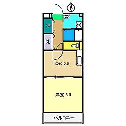 タムラヤマンション[2階]の間取り