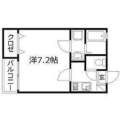 静岡県浜松市中区文丘町の賃貸アパートの間取り