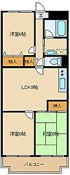 猪名川エクセルハイツ[4階]の間取り