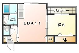 ファミールキンダII[2階]の間取り