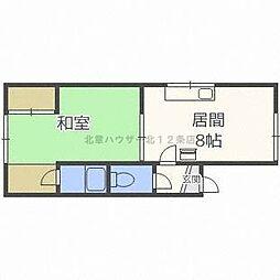 泰和荘[2階]の間取り