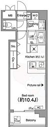 東京メトロ銀座線 外苑前駅 徒歩3分の賃貸マンション 5階ワンルームの間取り