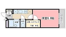 レオパレスOKANISHI[305号室]の間取り