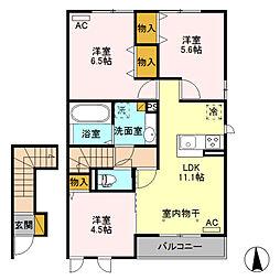 ヘルシーホーム the 5th[2階]の間取り