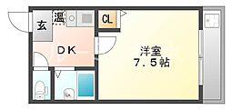 シャインコスモマンション[1階]の間取り