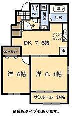 (新築)スカイスター南宮A[1階]の間取り
