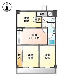 パークアベニュー徳川[5階]の間取り