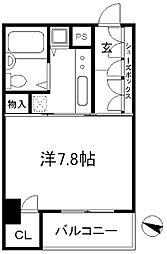 兵庫県神戸市中央区下山手通5丁目の賃貸マンションの間取り