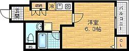 大阪府大阪市城東区野江1丁目の賃貸マンションの間取り