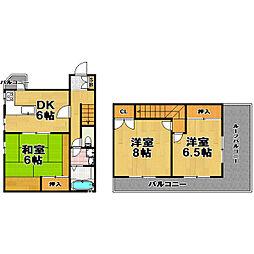 ハイツ福岡[4階]の間取り
