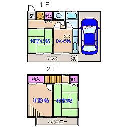 [テラスハウス] 神奈川県横浜市鶴見区上の宮2丁目 の賃貸【/】の間取り