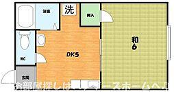 大阪府枚方市牧野阪1の賃貸アパートの間取り