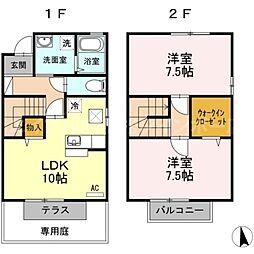 [タウンハウス] 香川県高松市御厩町 の賃貸【/】の間取り
