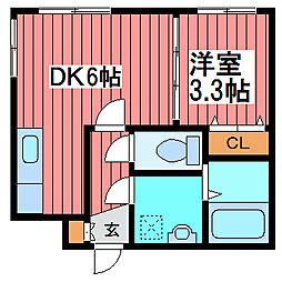 ラムズ西岡旭堂[3階]の間取り