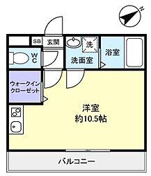 コンフォート大和田[3階]の間取り