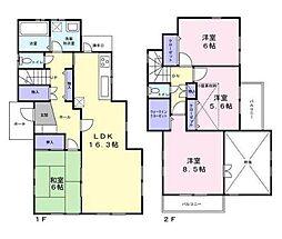 [一戸建] 東京都調布市入間町2丁目 の賃貸【/】の間取り