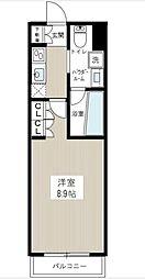 東京都大田区南蒲田2丁目の賃貸マンションの間取り