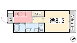 エクシード[407号室]の間取り