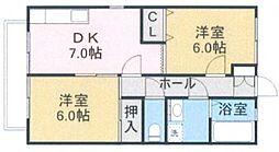 メゾン山王B棟[2階]の間取り