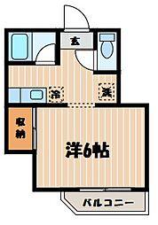東京都大田区西蒲田4丁目の賃貸アパートの間取り