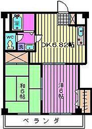 インフォートマンション[5階]の間取り