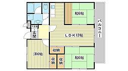 ロワイヤル東山[203号室]の間取り