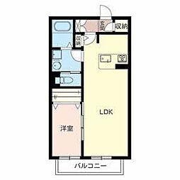 大阪府堺市西区津久野町2丁の賃貸アパートの間取り
