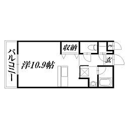 静岡県浜松市東区大蒲町の賃貸アパートの間取り