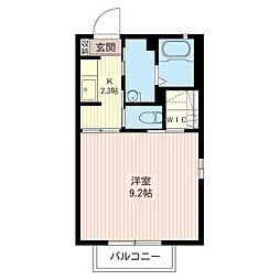 ラ・コートA[2階]の間取り