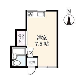 アパートメント 12[2階]の間取り