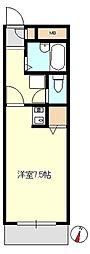 西武池袋線 清瀬駅 徒歩7分の賃貸マンション 1階ワンルームの間取り
