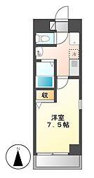 プルミエ千成[4階]の間取り