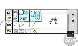 S-RESIDENCE新大阪Luna 3階1Kの間取り