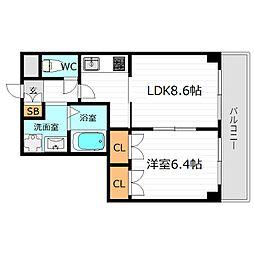 M'PLAZA城東六番館[4階]の間取り