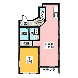 コーポS2[4階]の間取り
