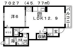 ベルラフォーレ[105号室号室]の間取り