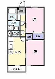 ドミールハイツ5[102 号室号室]の間取り