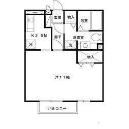 兵庫県尼崎市西大物町の賃貸アパートの間取り