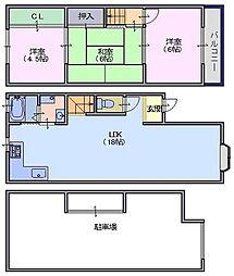 [一戸建] 奈良県天理市柳本町 の賃貸【/】の間取り