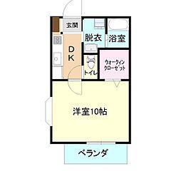 マイステージ17番館B[1階]の間取り