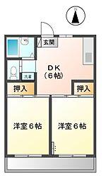 チェリーマンションI 11b[2階]の間取り