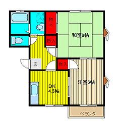 メゾンラフォーレA[2階]の間取り