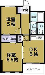 シャトー夕凪[2階]の間取り